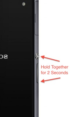 XperiaZ1screenshot,آموزش گرفتن اسکرین شات در سونی اکسپریا زد 1,اسکرین شات گرفتن زد وان